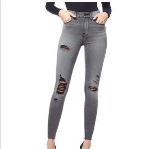 Good Waist Raw Edge Jeans